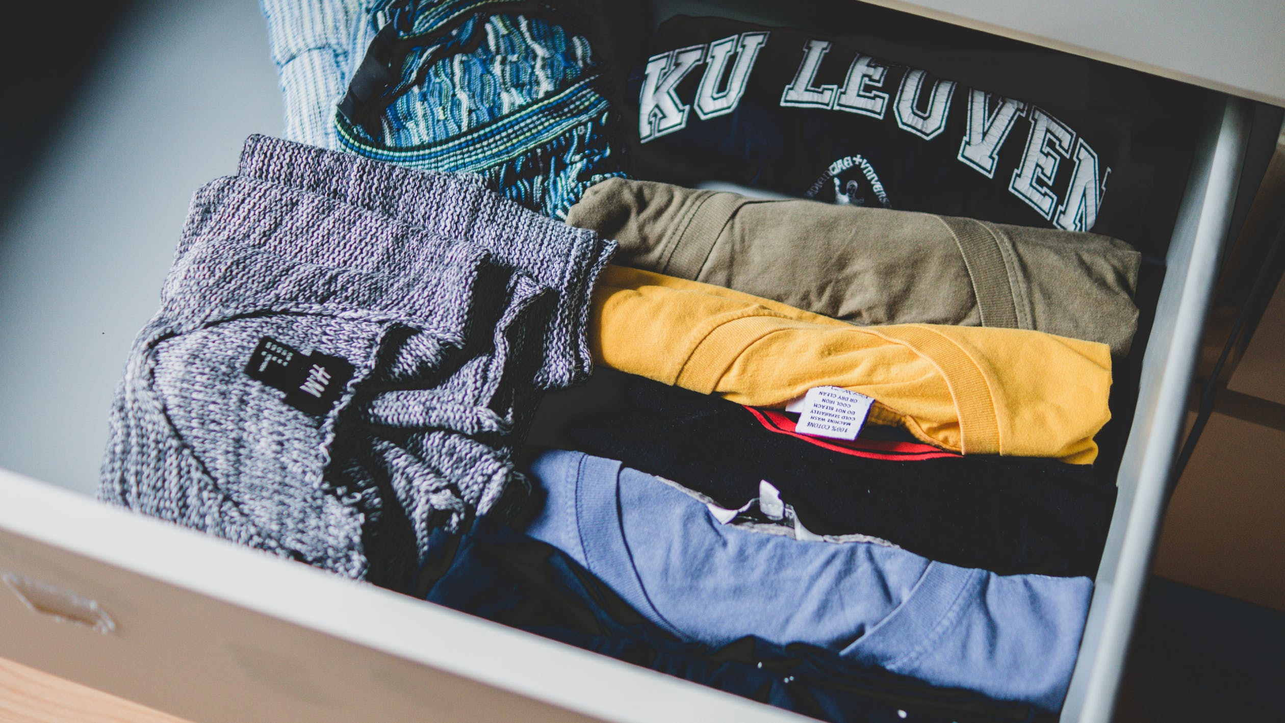 shirts in een lade